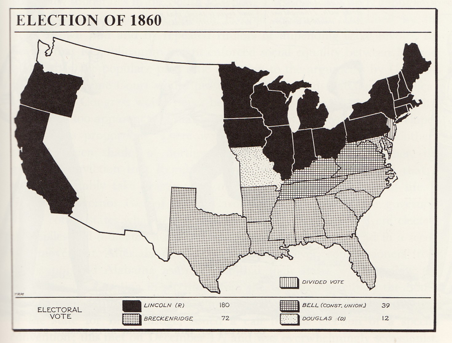 Sectional Crisis Exhibit - Secession map of us 1860