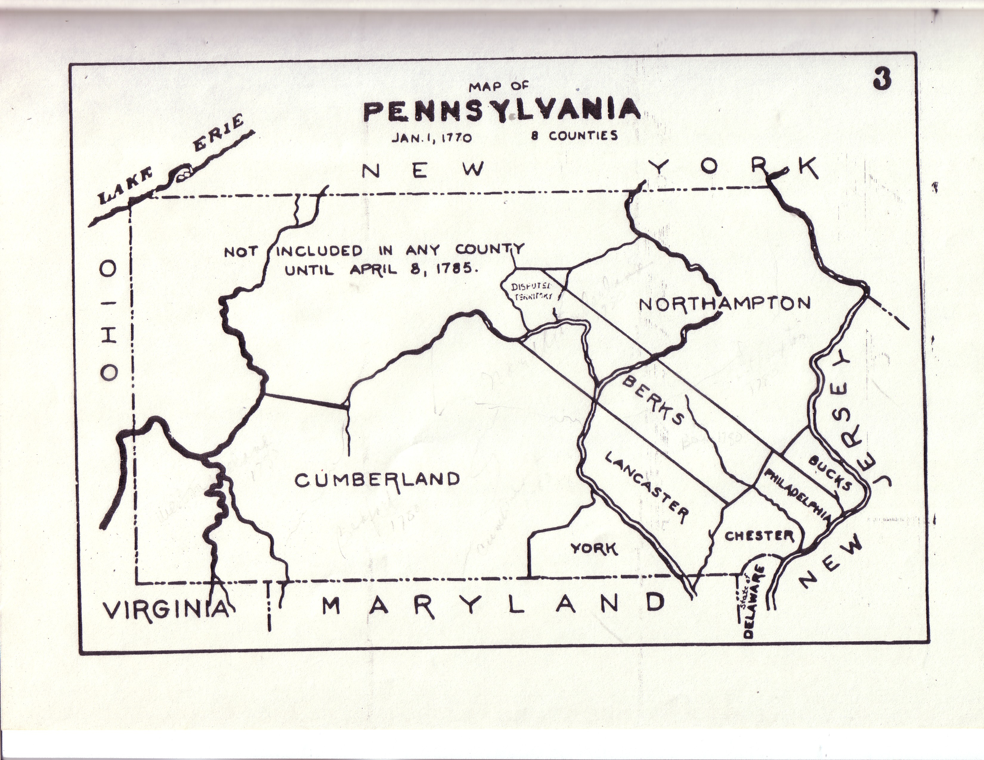 Civil War Blog  Historical County Maps of Pennsylvania