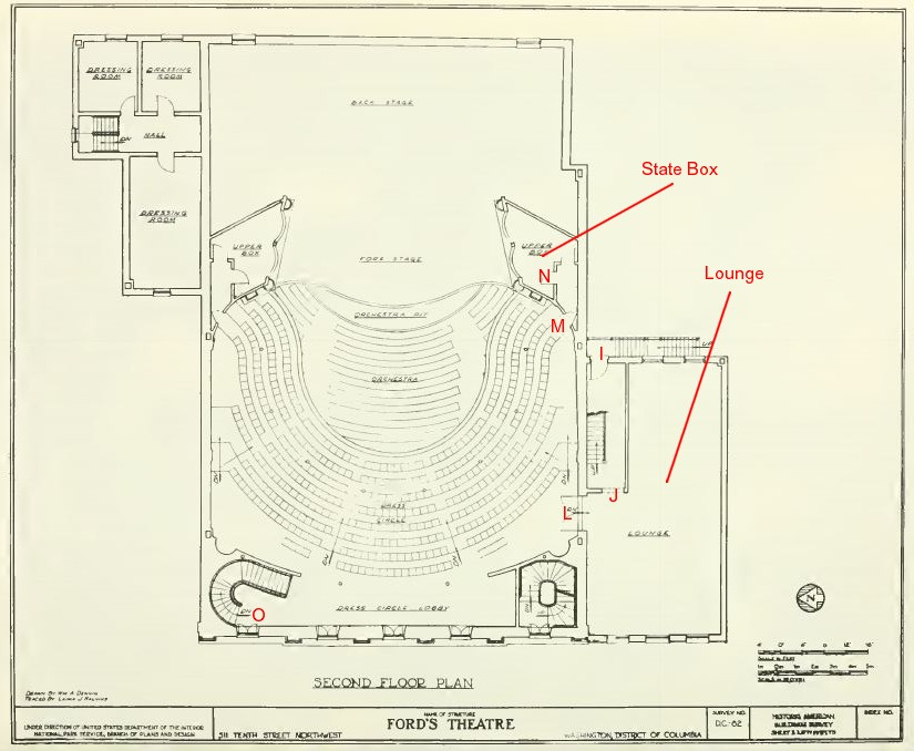 Civil war blog the architecture of fords theatre laura keene dress circle plan malvernweather Images