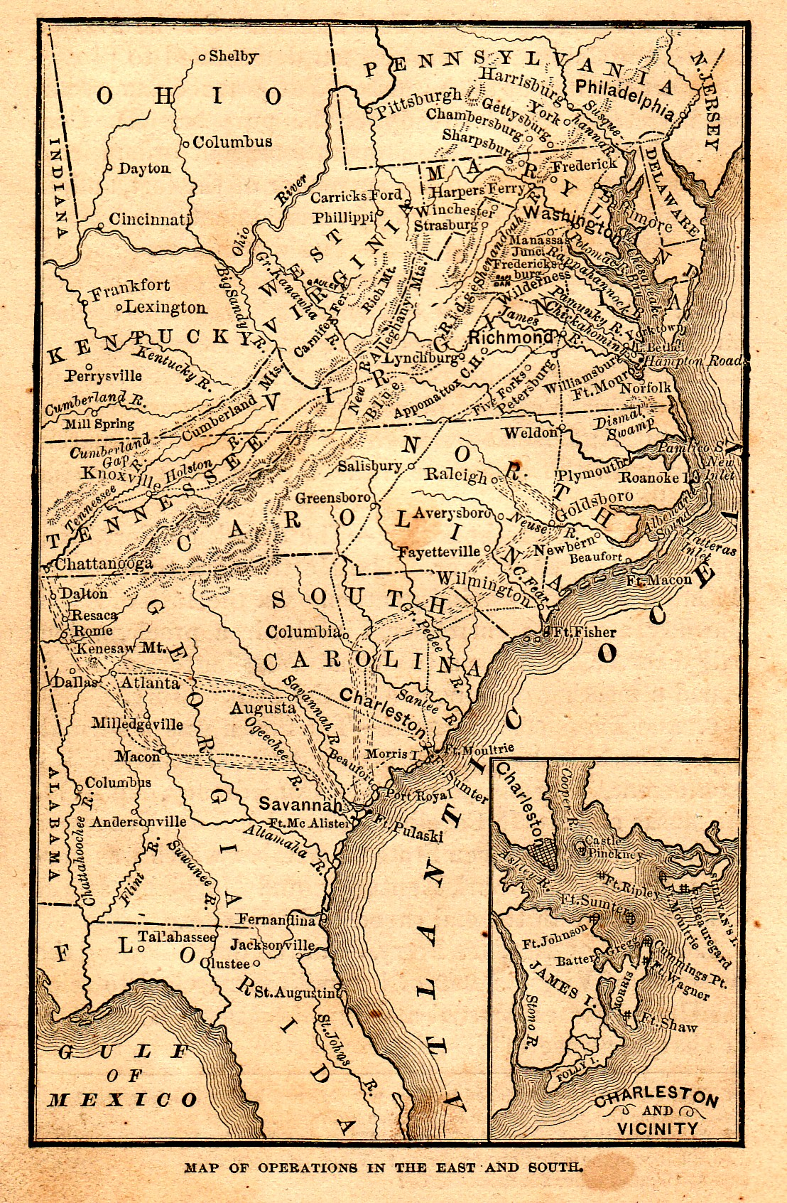 Map Of Ohio And Pennsylvania http://civilwar.gratzpa.org/2012/02/school-book-maps-of-the-war-in-the-east/