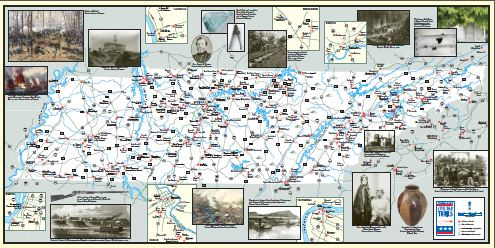 Tennessee Civil War Battles Map Pictures to Pin on Pinterest