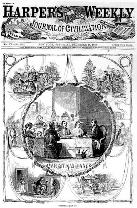 The cover of the Christmas 1860 issue of Harper's Weekly