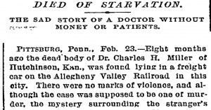 New York Times article stating it wasn't murder.