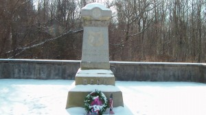 Monument in approximately the area where Reno was mortally wounded