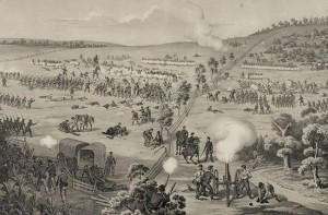 A sketch of the fight on South Mountain