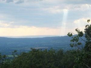 View of Fox's and Turner's Gap on South Mtn. from Gambrill State Park
