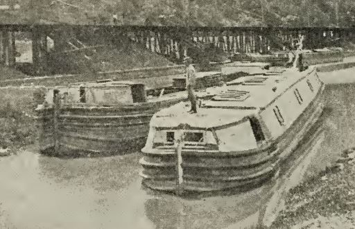Canal boats (arks) like these originally carried all Lykens Valley anthracite to market.