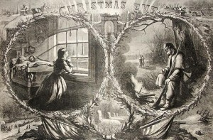 Christmas Eve in the Civil War (Harpers Weekly, 1863)
