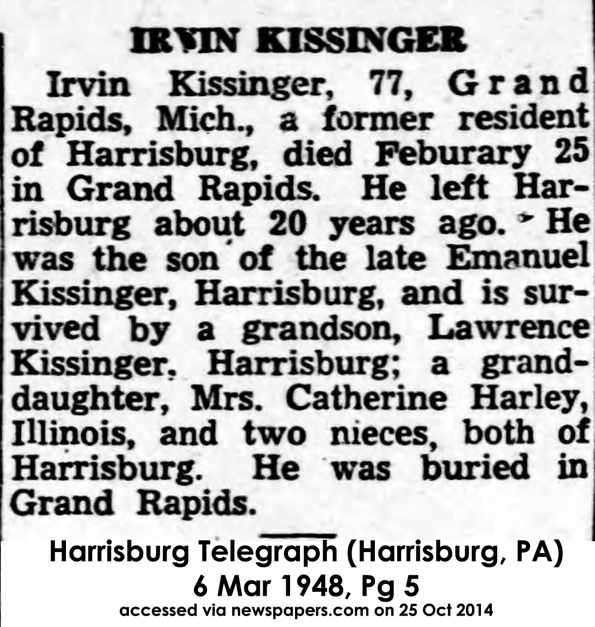KissingerIrvin-obit-001