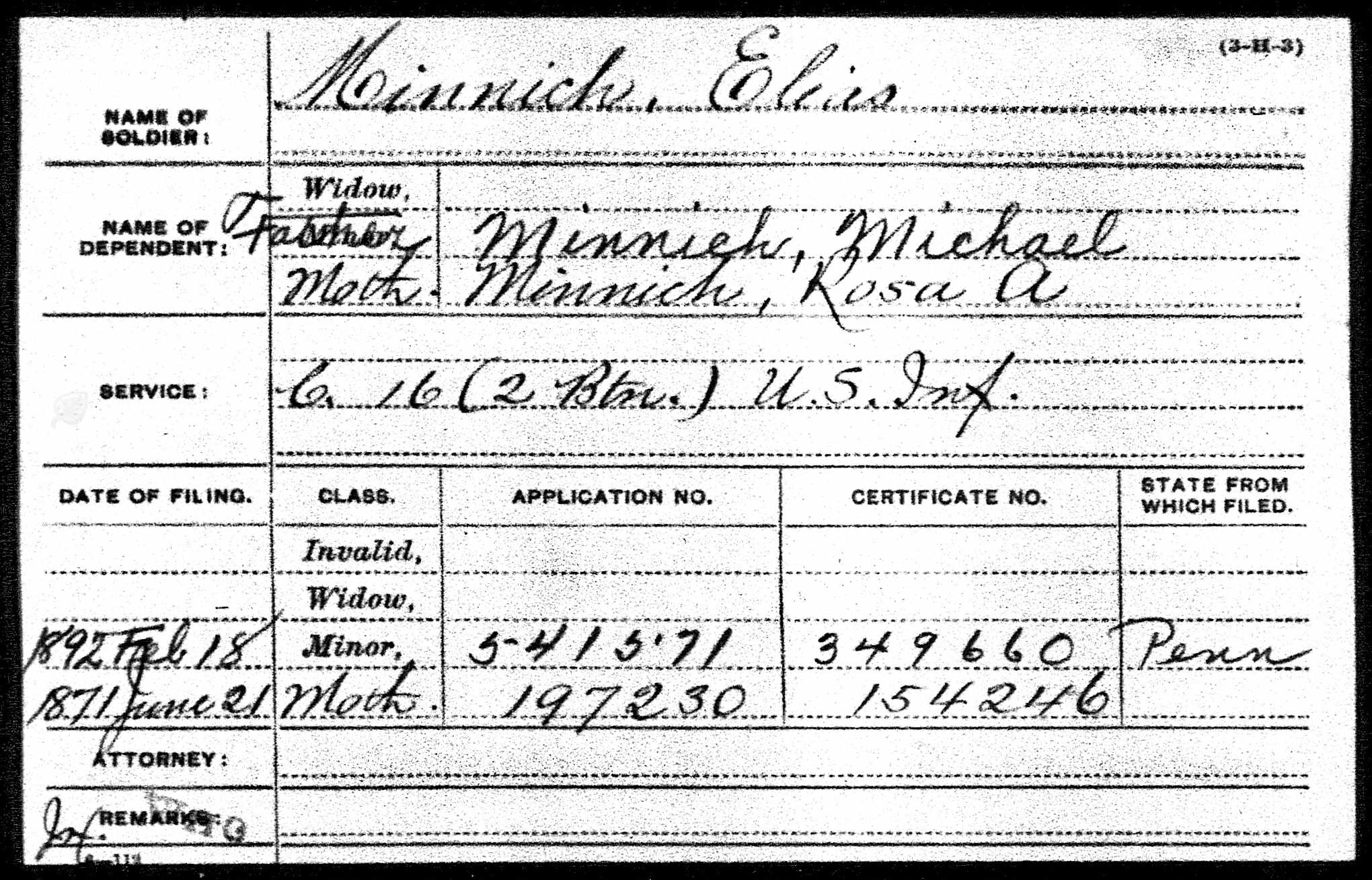 Fresh pictures of birth certificate georgia business cards and civil war blog elias minnich killed in action near marietta aiddatafo Images